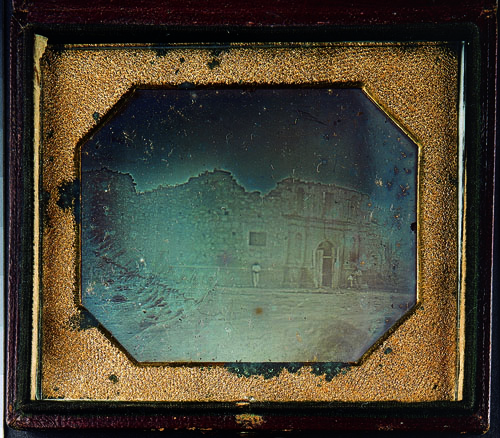 Alamo daguerreotype, 1849. Dolph Briscoe Papers, Gift of Governor Dolph and Mrs. Janey Briscoe. di_00149